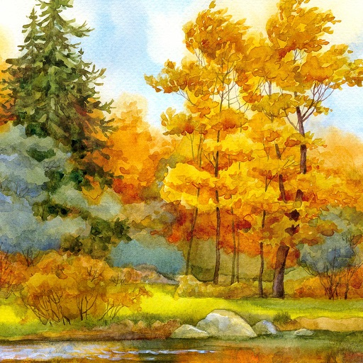 Paint a Fall Landscape in Watercolor