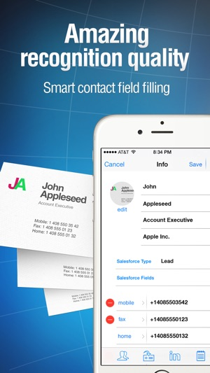 Business card reader pro on the app store iphone screenshots reheart Choice Image