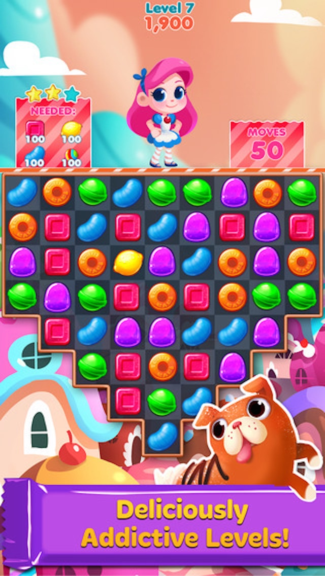 Cookie Cake Smash - 3 match puzzle game screenshot two