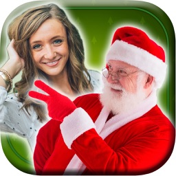 Photo with Santa Stickers