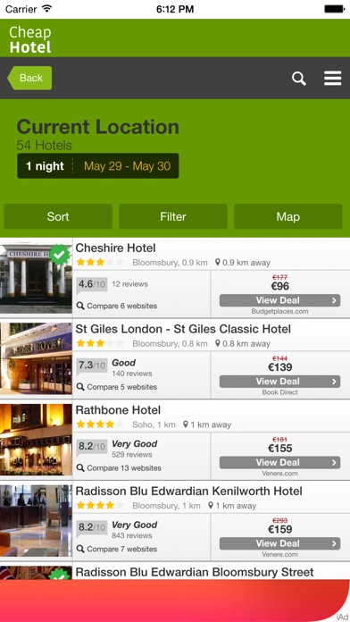 download Cheap Hotel for Tonight Near You - Only the most economical hotels at lower price apps 0
