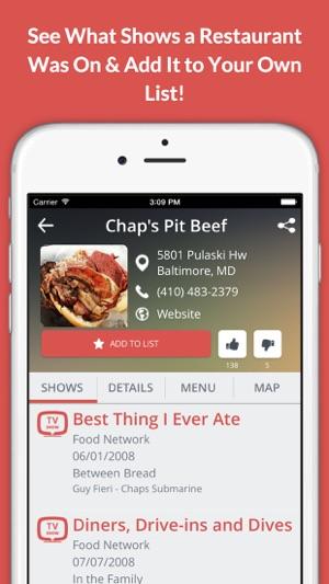 TV Food Maps - Restaurants on TV, Road Trip Planner, Diners, Drive