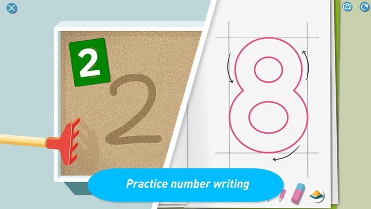 Montessori Numberland - Learn to count and trace numbers