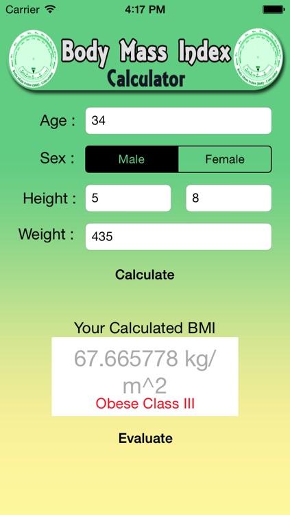 BMI-Body Mass Index Calculator for Men and Women screenshot-3