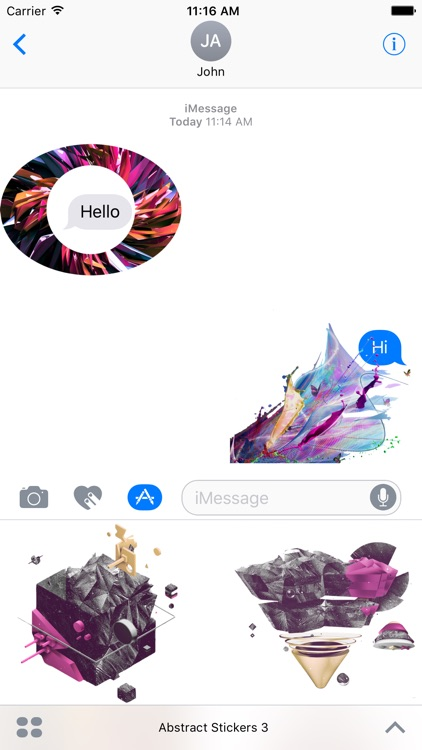 iMessage Abstract Stickers