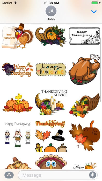 Happy Turkey Stickers