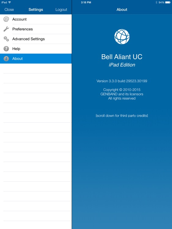Bell Aliant Unified Communications for iPad screenshot-3