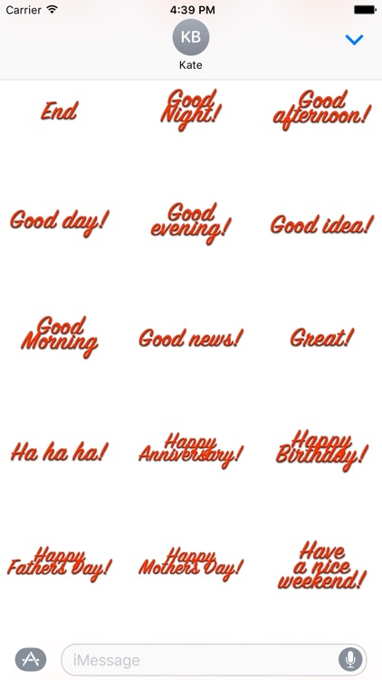 Expressions Red Stickers for iMessage