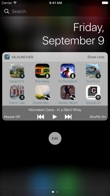Music Launcher with Widget