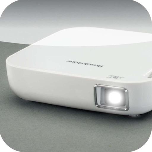 Brookstone® Wireless Mobile Projector App. icon