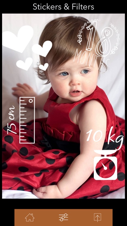 +470 stickers & filters | baby story