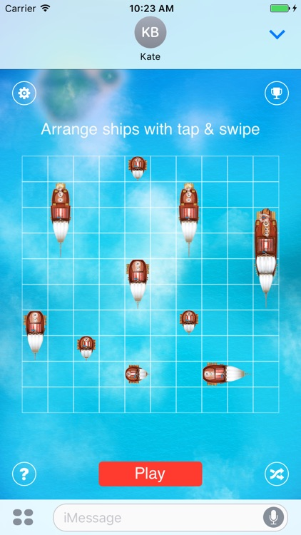 Battleship: play with friends in iMessage