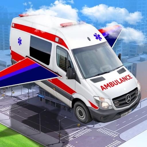 Futuristic Flying Car: Emergency Vehicle Parking iOS App