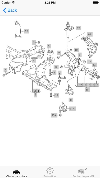VW parts and diagrams screenshot-3