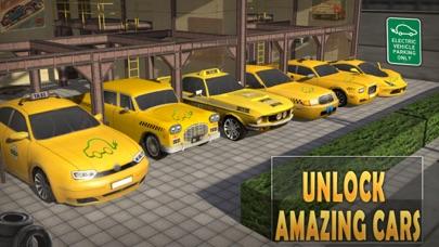 电动车出租车模拟器3D:日夜司机的工作 App 截图