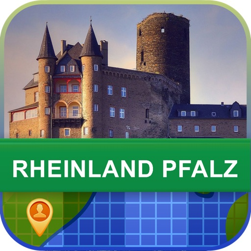Rheinland Pfalz, Germany Map - World Offline Maps