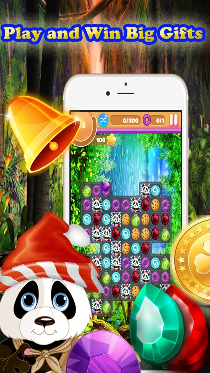 Cute Panda Jungle Match Puzzle Game For Christmas screenshot-4