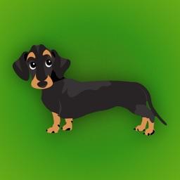 Dachshund Emoji - Black and Tan