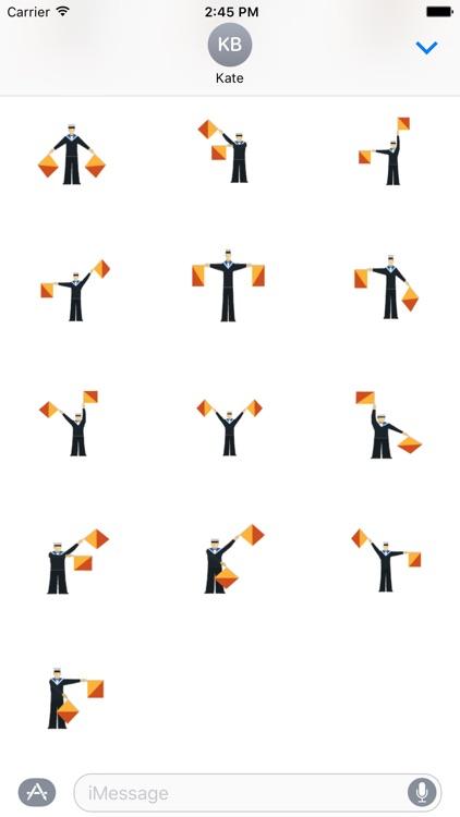 Semaphore Stickers