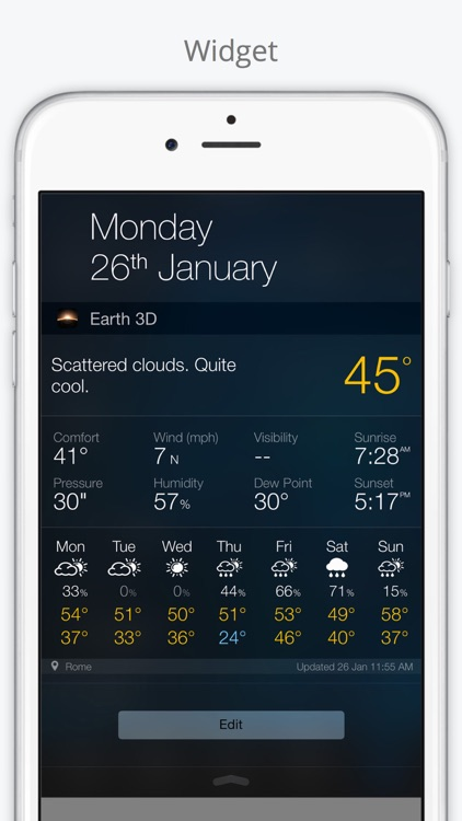 World Weather Forecast. Earth 3D Map and US Widget screenshot-4