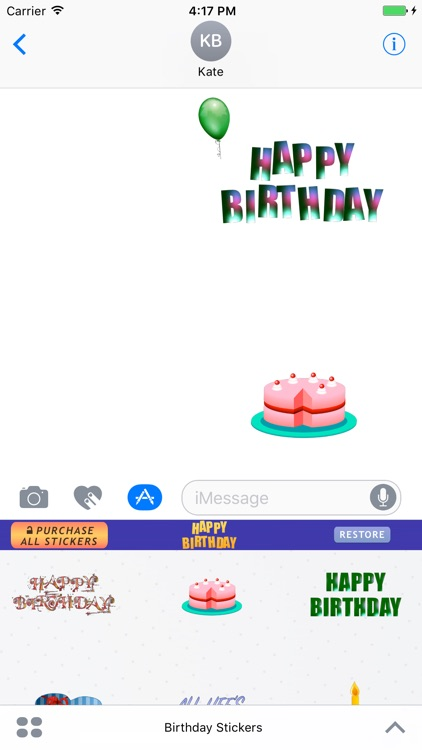Birthday Stickers for iMessage : Happy Birthday