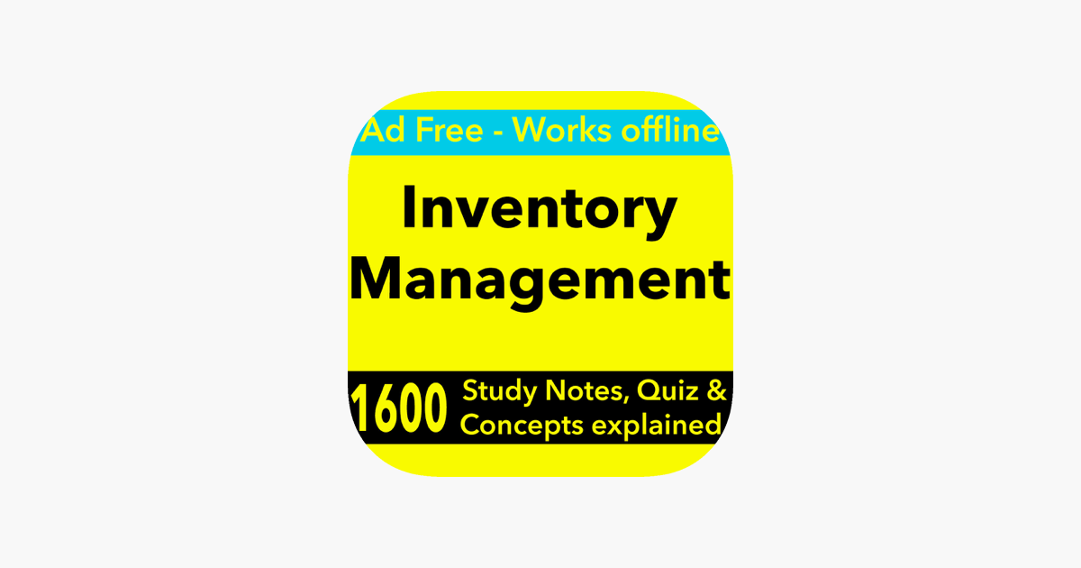 Inventory Management Exam Review -Terms & Quizzes