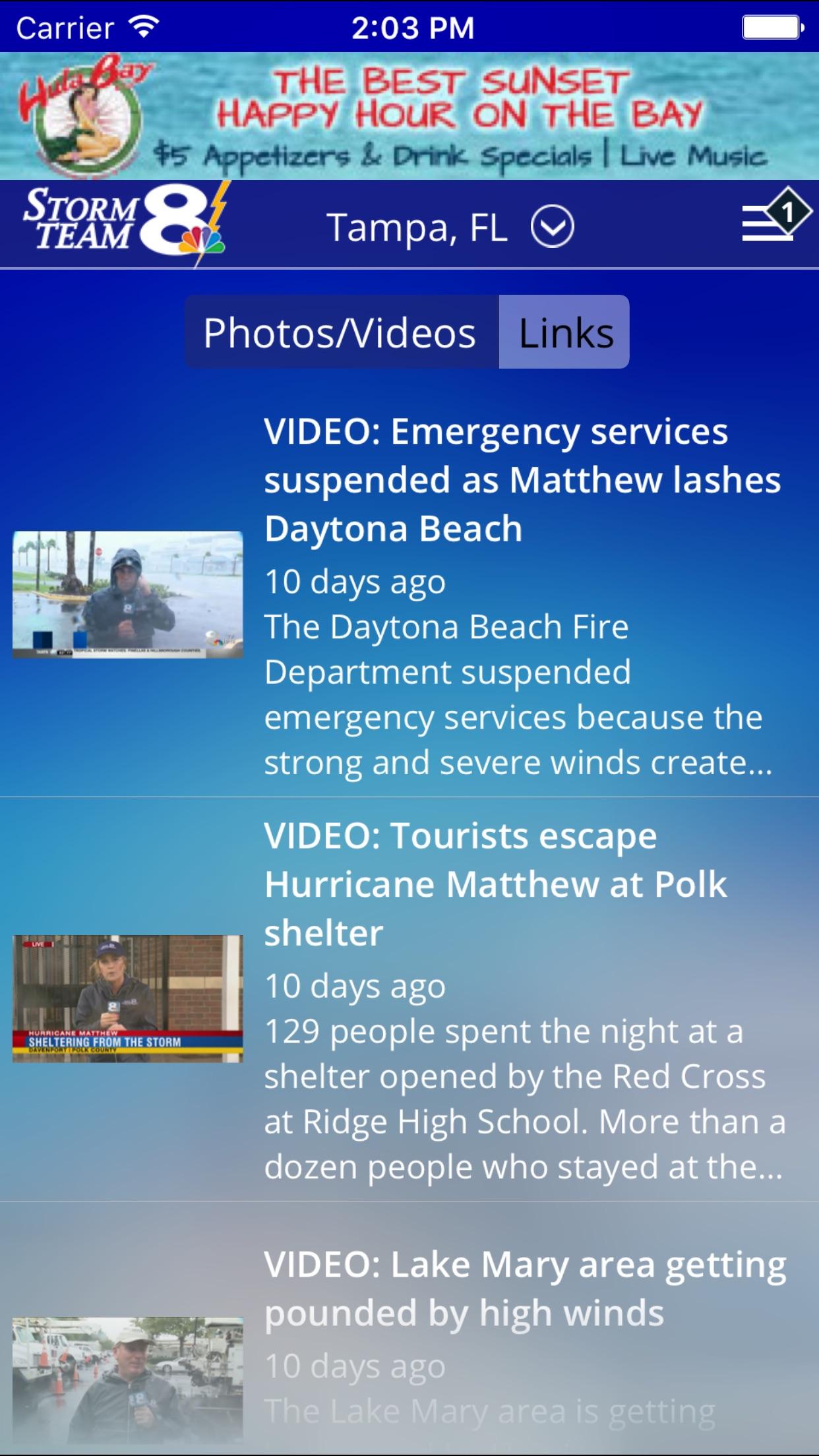 Storm Team 8 - WFLA - Weather Max - Tampa Screenshot