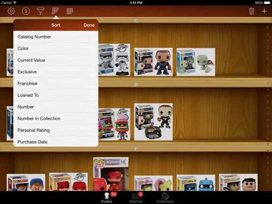 Vinyl Figure Toy Collector Manager - iPad version screenshot two