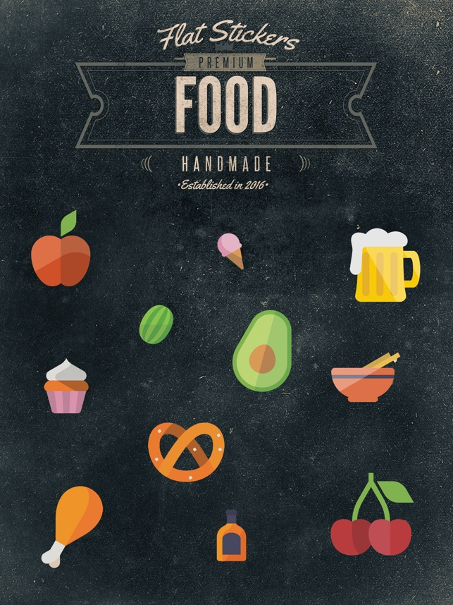 food flatstickers im app store