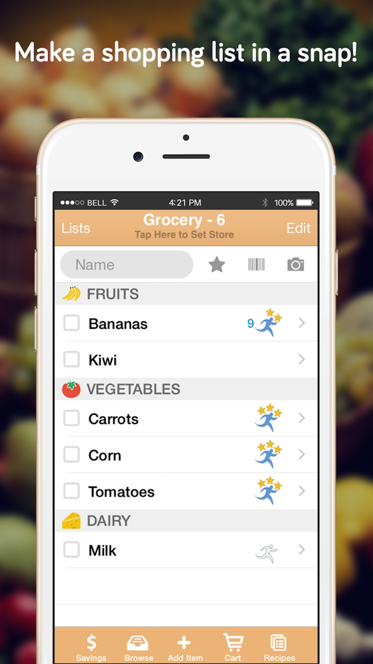 Shopper - List and Recipes Screenshot