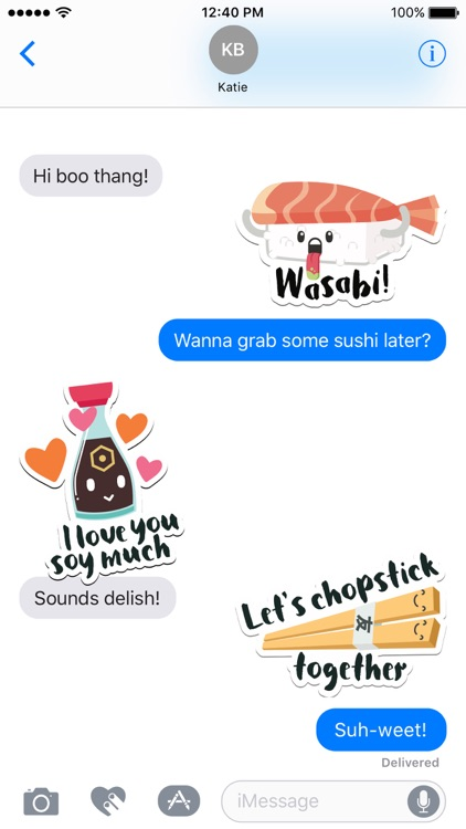 Sushi Stickers for iMessage