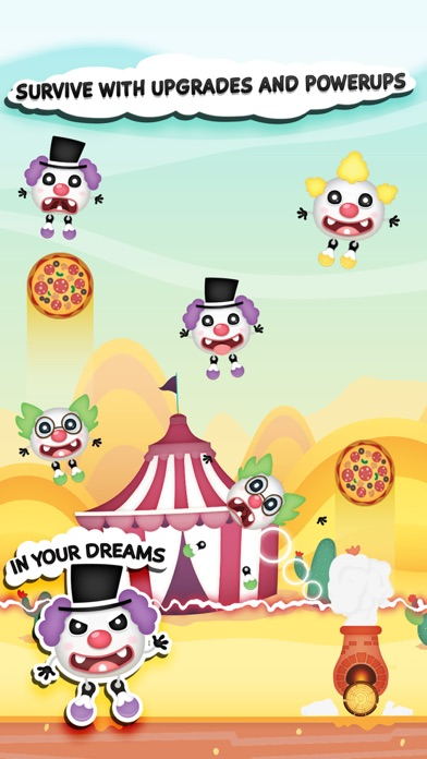 Clowny Rain - Endless Arcade Shooter screenshot one