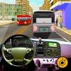 Real Modern city Bus driving simulator 3d 2016 - transport passengers through real city traffic