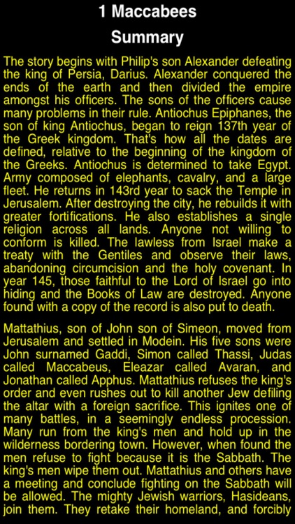 Summary Old Testament Apocrypha (Part 2)