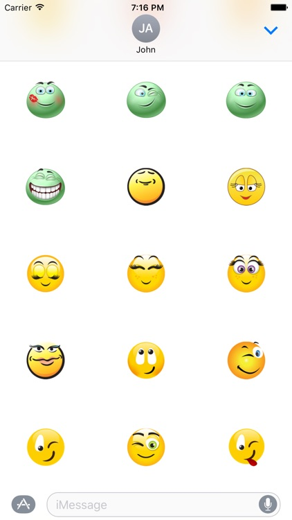 "Happy Smile ""Big Smilies Stickers"" for iMessage screenshot-4"