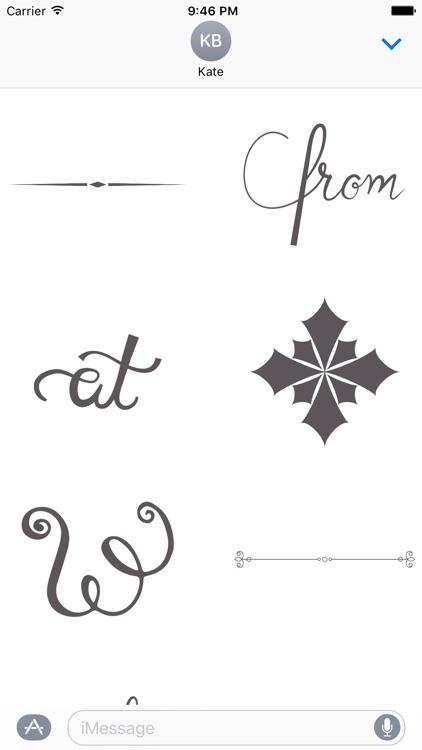 Elegant Calligraphy Stickers