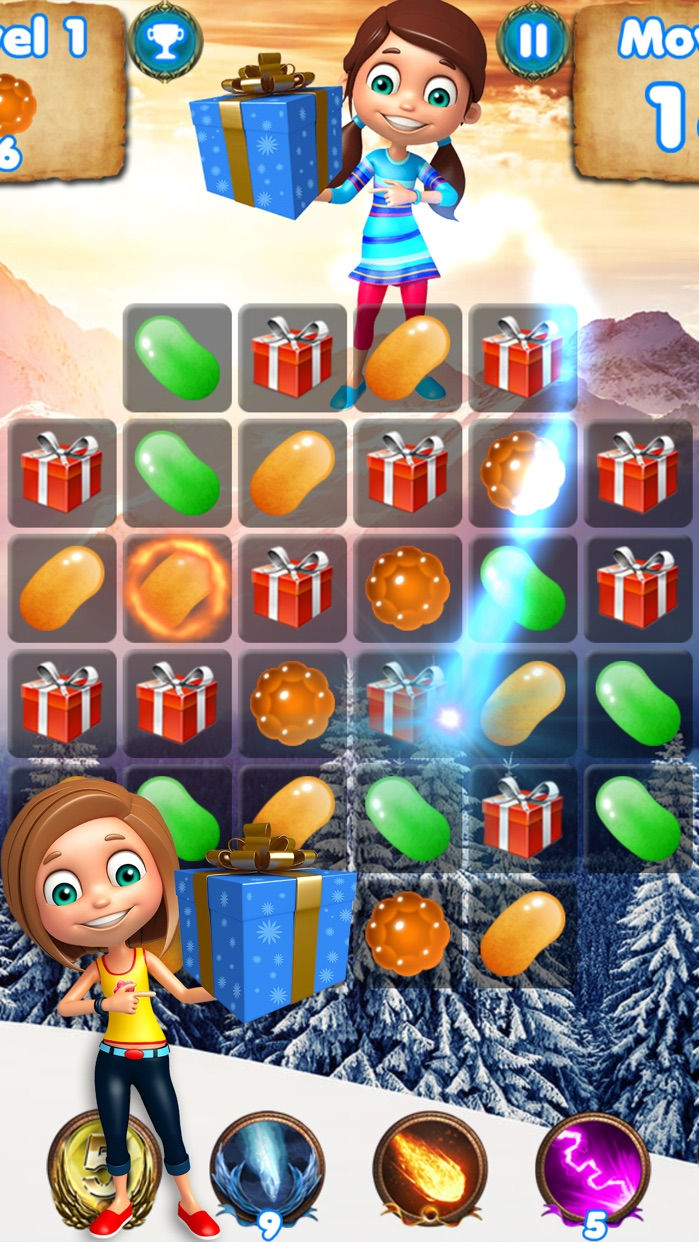 Christmas Crush - free puzzle games to match candy Screenshot