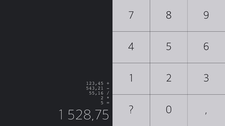 Swipe Calculator - gesture based interaction