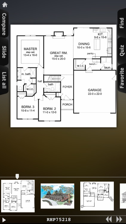 House Plans - Ranch