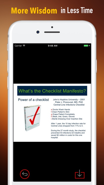 Quick Wisdom from The Checklist Manifesto