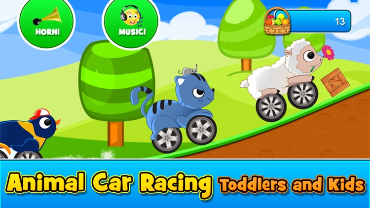 Animal Cars Kids Racing Game