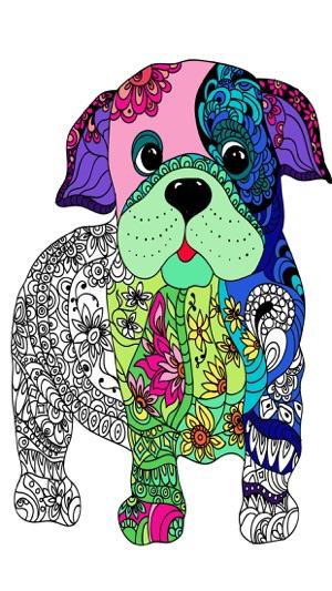 Mandalas De Perros Para Colorear Adultos Pro En App Store