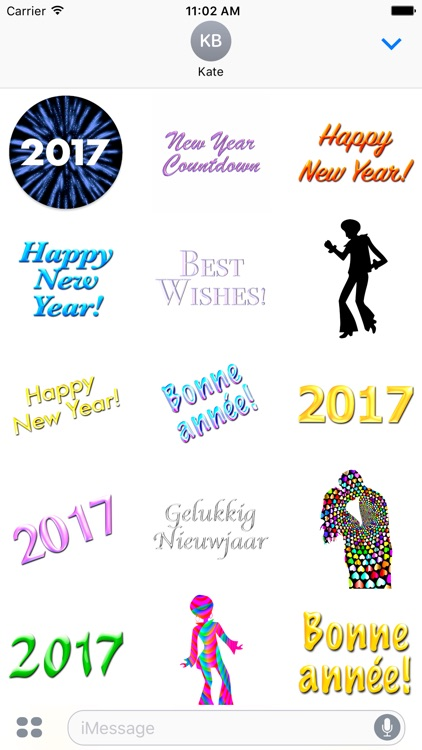 Happy New Year 2017 • 80 stickers for iMessage