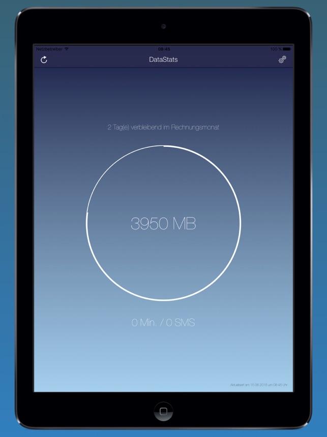 DataStats - Dein Datenverbrauch mit Today-Widget Screenshot