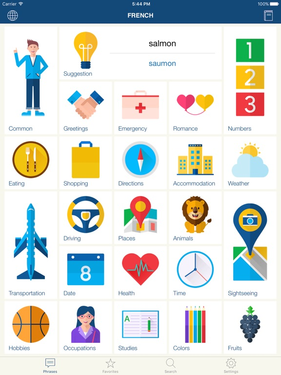 Learning french using pictures