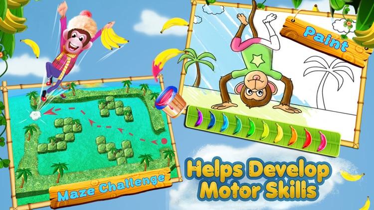 5 Little Monkeys - Activities & Sing Along screenshot-3