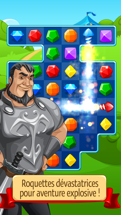 Screenshot #1 pour Knight Girl - Match 3 Puzzle