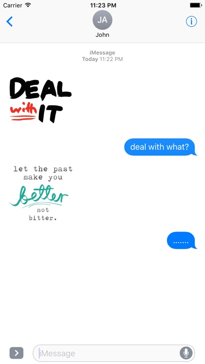 QUOTEs II Stickers for iMessage