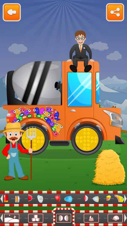 Little Tractor Builder Factory and Build Trucks for Kids screenshot-4
