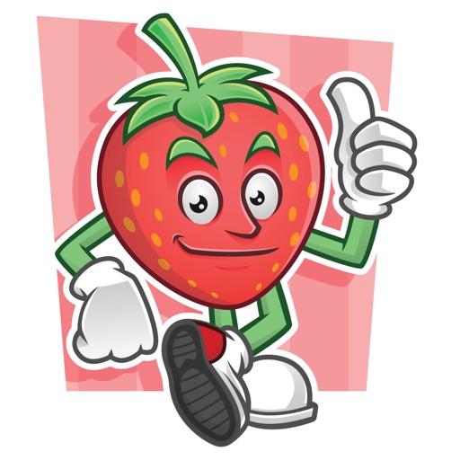 Funny Strawberry Stickers Vol 01